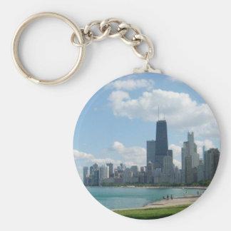 Chicago Llavero Redondo Tipo Pin
