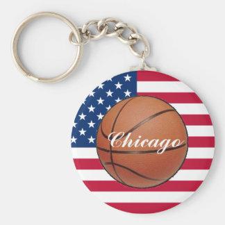 Chicago llinois Basketball Keychain