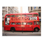 Chicago, London Bus... Postcard