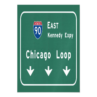 Chicago Loop I-90 E Interstate Illinois IL Magnetic Card