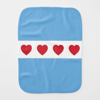 Chicago Love Burp Cloth