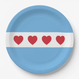 Chicago Love Paper Plates