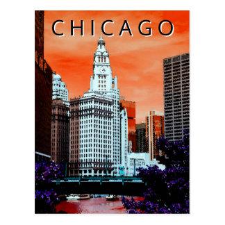 Chicago LT Wind City Watercolor Art Postcard