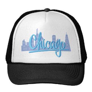 Chicago-Luz-Azul Gorras