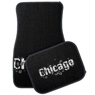 Chicago Mafia History Boss Gun shot Holes Car Mat