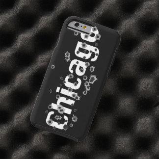 Chicago Mafia History Boss Gunshots Holes Sign Tough iPhone 6 Case