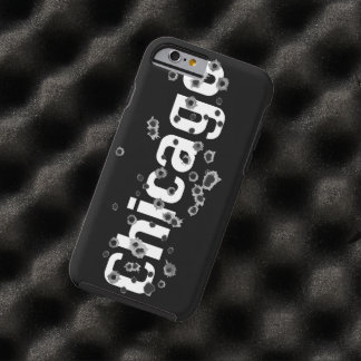 Chicago Mafia History Boss Gunshots Holes Sign Tough iPhone 6 Case