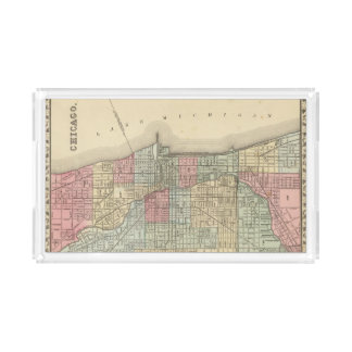 Chicago Map by Mitchell Acrylic Tray