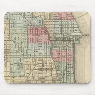 Chicago Map by Mitchell Mouse Pad