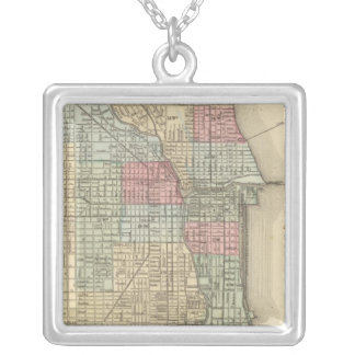 Chicago Map by Mitchell Personalized Necklace