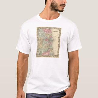 Chicago Map by Mitchell T-Shirt
