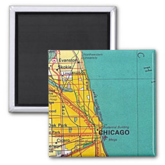 Chicago Map Magnet
