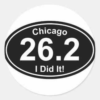 Chicago Marathon Classic Round Sticker