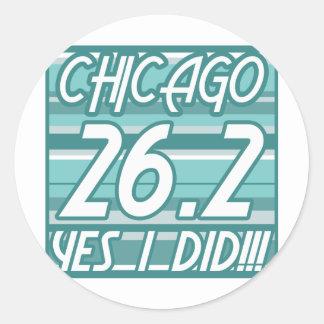 Chicago Marathon Round Stickers