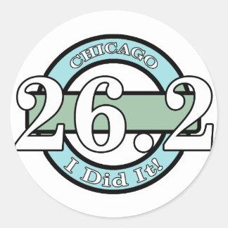 Chicago Marathon Round Sticker