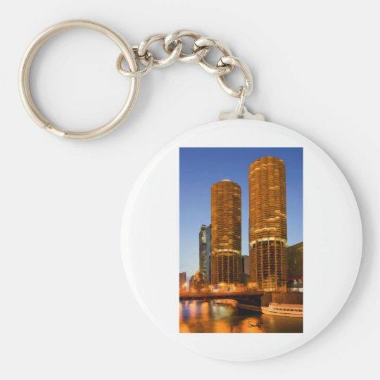 Chicago Marina Towers Keychain
