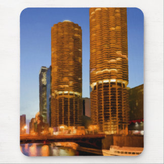 Chicago Marina Towers Mouse Pad