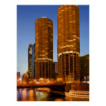 Chicago Marina Towers Poster