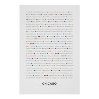 Chicago - MetroDots Póster