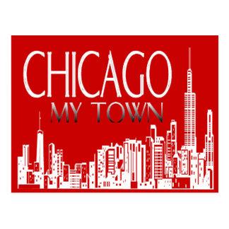 Chicago mi ciudad tarjetas postales