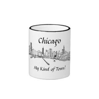 Chicago mi clase de dibujo de la opinión de la taza de dos colores