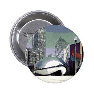 Chicago Millennium Park Buttons