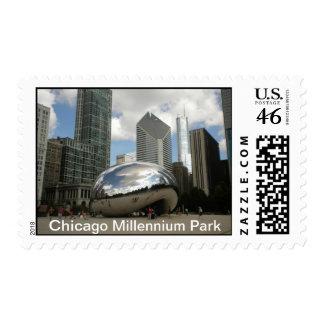Chicago Millennium Park Postage