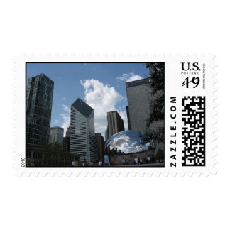 """Chicago- Millinum Park and """"the bean"""" Postage"""