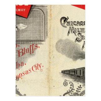Chicago Milwaukee and St Paul Railway Postcard
