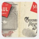 Chicago Milwaukee and St Paul Railway Square Sticker