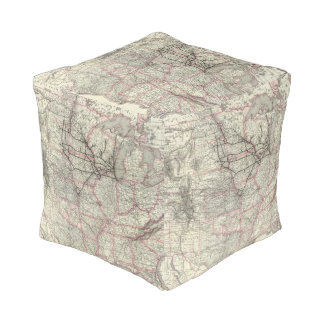 Chicago Milwaukee and St Paul Ry and connections Cube Pouf