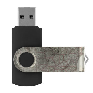 Chicago Milwaukee and St Paul Ry and connections Swivel USB 2.0 Flash Drive