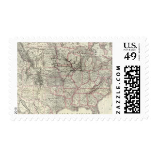 Chicago Milwaukee and St Paul Ry and connections Postage Stamp
