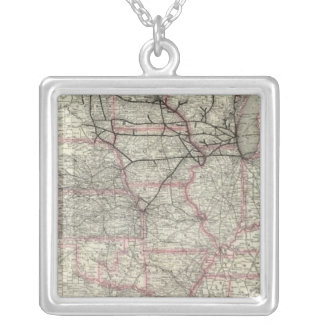 Chicago Milwaukee and St Paul Ry and connections Silver Plated Necklace