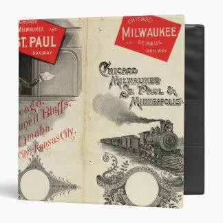 "Chicago Milwaukee y ferrocarril de San Pablo Carpeta 1 1/2"""