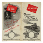 Chicago Milwaukee y ferrocarril de San Pablo Posters
