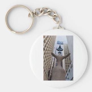 Chicago Miro Sculpture Basic Round Button Keychain