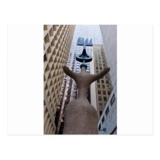 Chicago Miro Sculpture Postcard