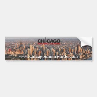 Chicago Music Guide Bumper Sticker #3 Car Bumper Sticker