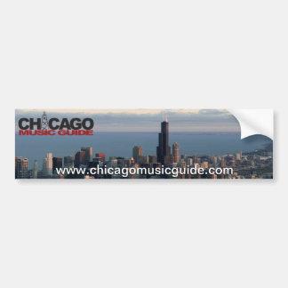 Chicago Music Guide Bumper Sticker #8