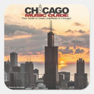Chicago Music Guide Square Sticker