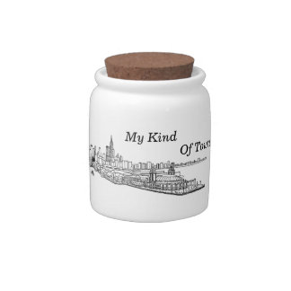 Chicago, My Kind Of Town Line Drawing Candy Jars