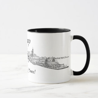 Chicago My Kind of Town shoreline view drawing Mug