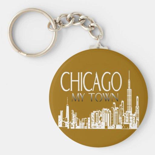 Chicago My Town Keychain
