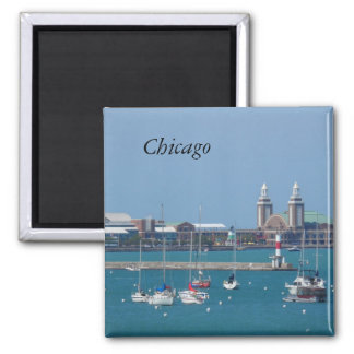 Chicago Navy Pier 2 Inch Square Magnet