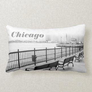 Chicago Navy Pier Benches Pillow