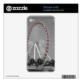 Chicago Navy Pier Ferris Wheel iPhone 4 Skins