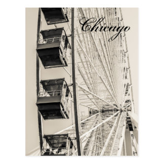 Chicago Navy Pier Ferris Wheel Postcard