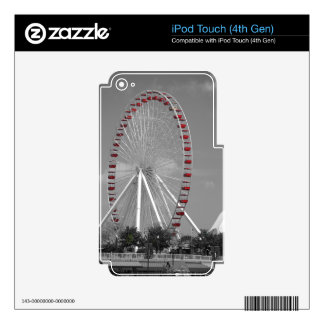 Chicago Navy Pier Ferris Wheel Skins For iPod Touch 4G