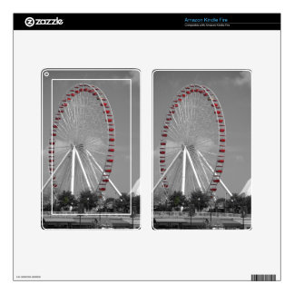 Chicago Navy Pier Ferris Wheel Skins For Kindle Fire